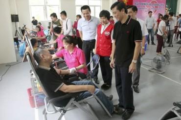 Sôi nổi Ngày hội hiến máu tình nguyện quận Ba Đình 2018