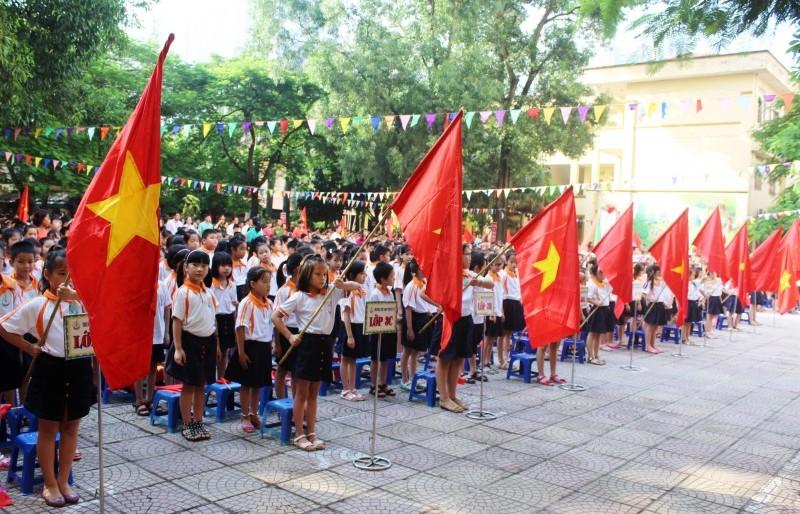 Tổ chức Lễ Khai giảng bảo đảm sức khỏe của học sinh và bảo vệ môi trường