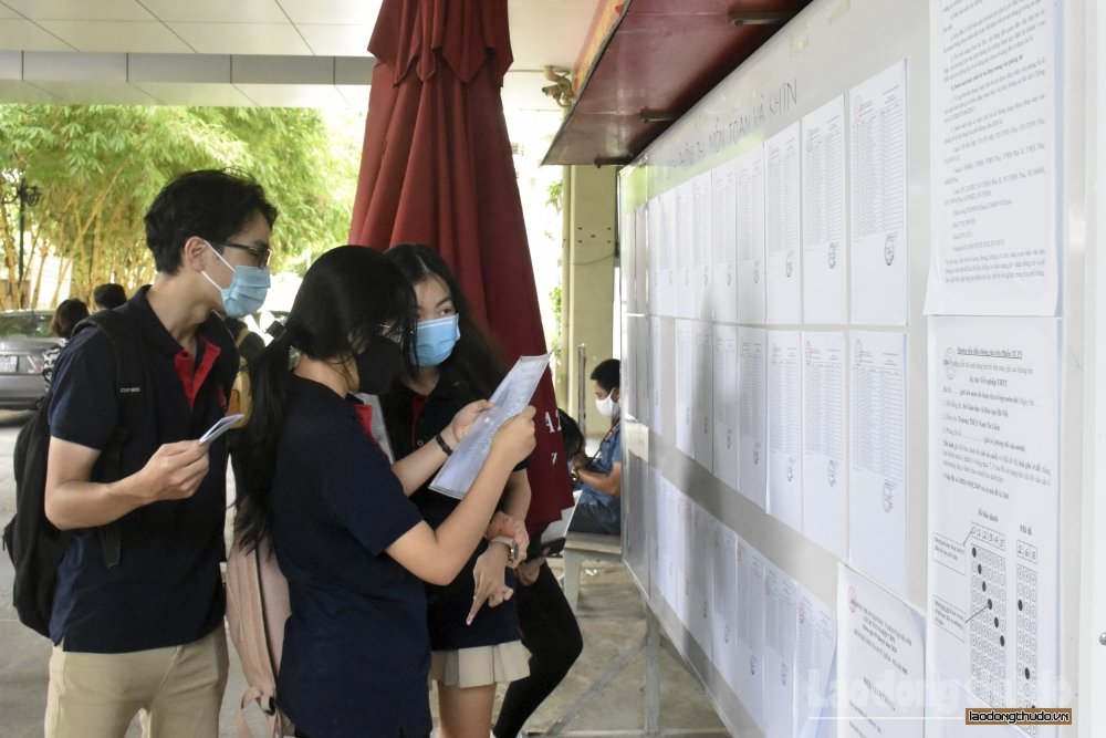 Phổ điểm một số tổ hợp xét tuyển đại học, cao đẳng năm 2020