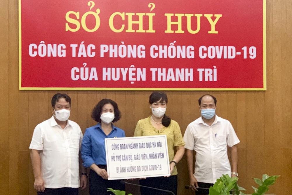 Hỗ trợ giáo viên huyện Thanh Trì bị ảnh hưởng bởi dịch Covid-19