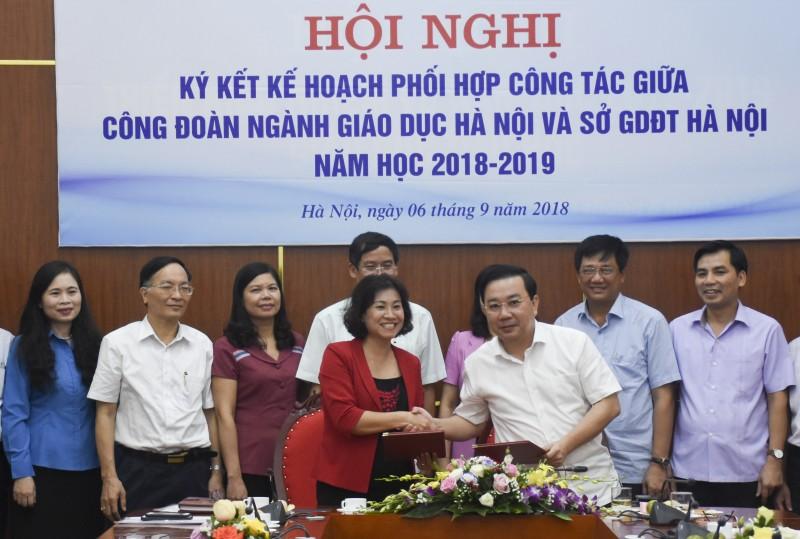 Ký kết kế hoạch phối hợp công tác năm học 2018 – 2019.