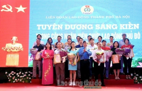 Vinh danh 47 Sáng kiến trong công nhân viên chức lao động Thủ đô