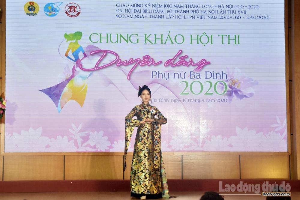 """Chung khảo hội thi """"Duyên dáng Phụ nữ Ba Đình"""" năm 2020"""