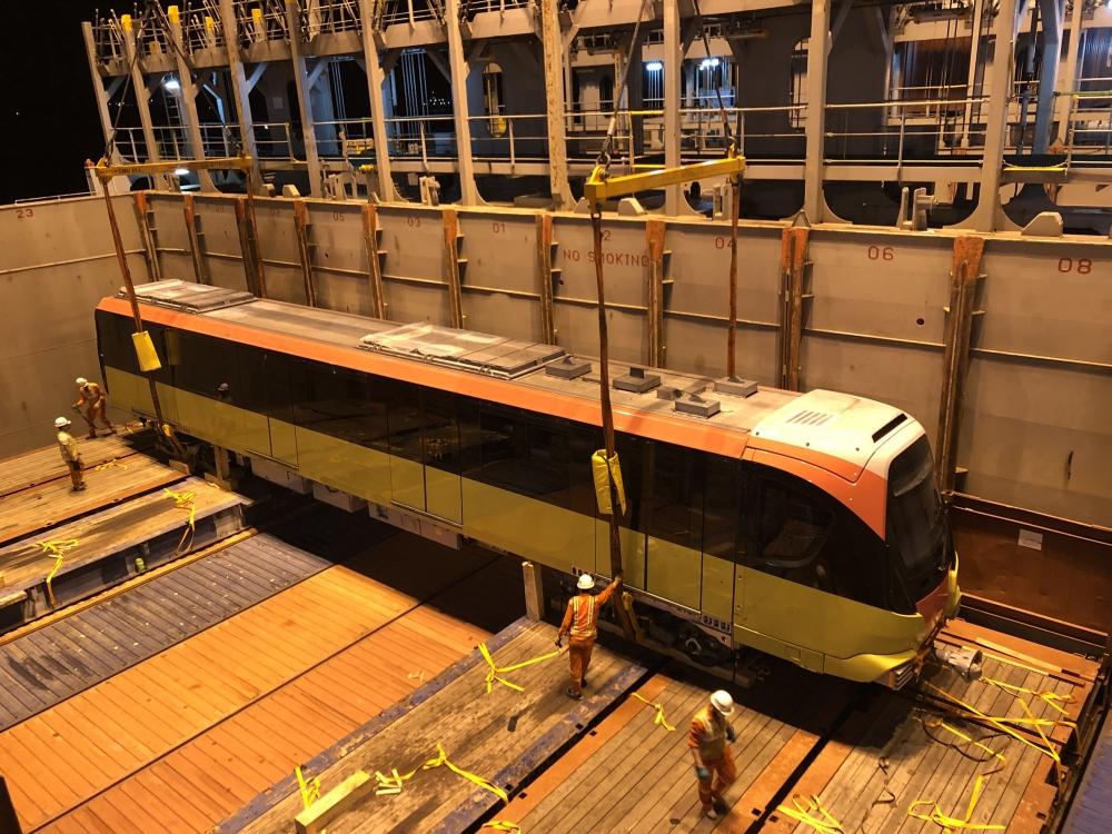 Đoàn tàu thứ 9 dự án Nhổn - Ga Hà Nội về đến Thủ đô