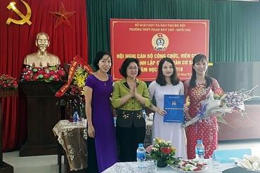 Ra mắt tổ chức Công đoàn Trường THPT Phan Huy Chú - Quốc Oai