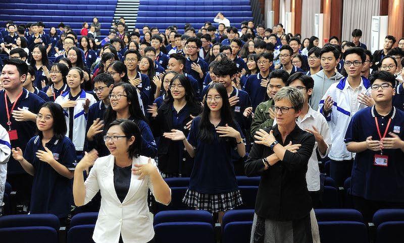 Trải nghiệm văn hóa , giáo dục New Zealand tại trường Nguyễn Siêu