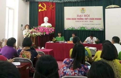 11 Công đoàn cơ sở ngành Giáo dục Hà Nội đã tổ chức xong Đại hội Công đoàn