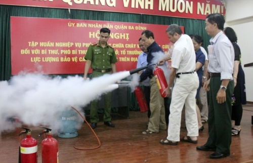 Quận Ba Đình: Đẩy mạnh các biện pháp phòng cháy, chữa cháy