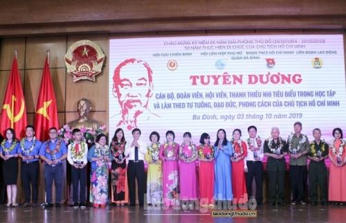 Quận Ba Đình: Tuyên dương 50 tấm gương tiêu biểu trong học tập và làm theo Bác