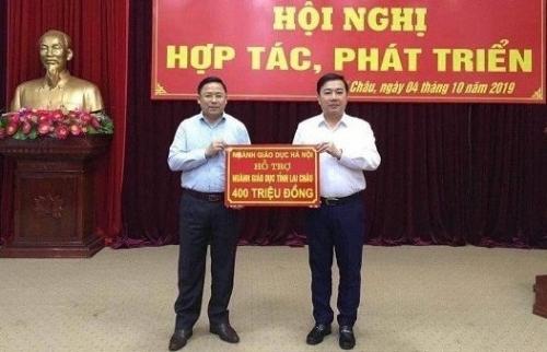 Trao hỗ trợ cho ngành Giáo dục và Đào tạo tỉnh Điện Biên, Lai Châu