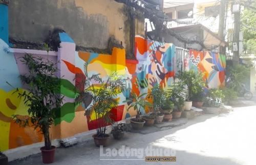 """Độc đáo mô hình """"Hoa trong phố"""" và """"Bức tranh tường"""""""