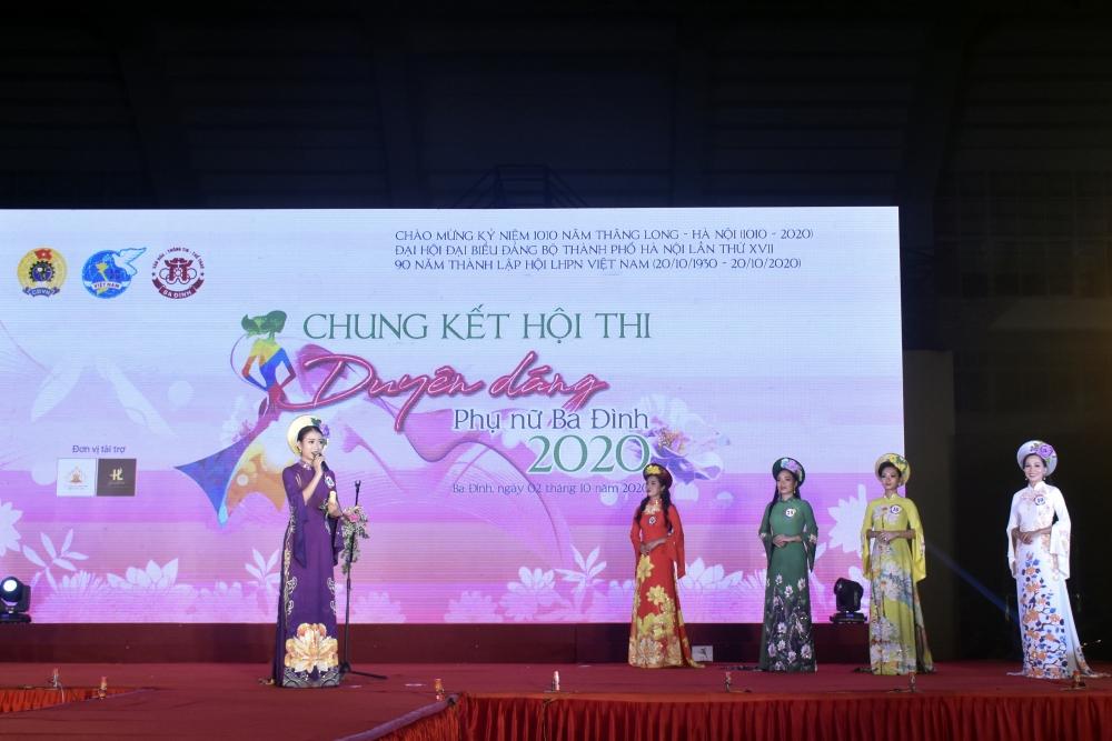 Chung kết Hội thi Duyên dáng phụ nữ Ba Đình năm 2020