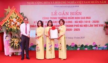 Quận Ba Đình gắn biển hai công trình chào mừng Đại hội Đảng bộ thành phố Hà Nội