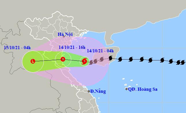 Bão số 8 đã vào Vịnh Bắc Bộ, cường độ suy yếu