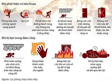 10 kỹ năng thoát hiểm khi có cháy, nổ xảy ra