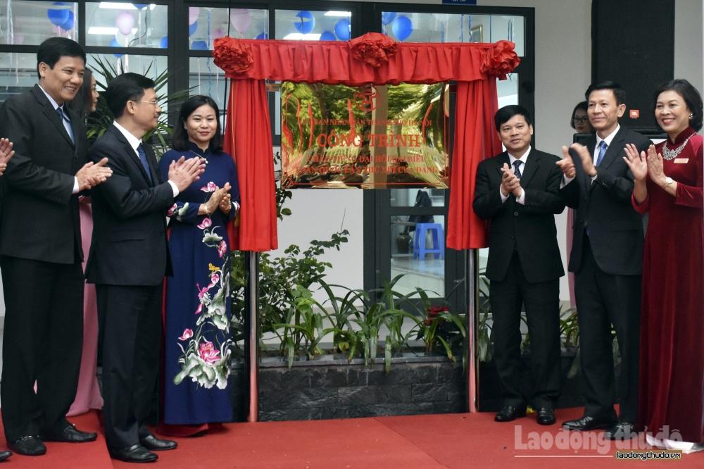 Gắn biển công trình chào mừng Đại hội đại biểu toàn quốc lần thứ XIII của Đảng