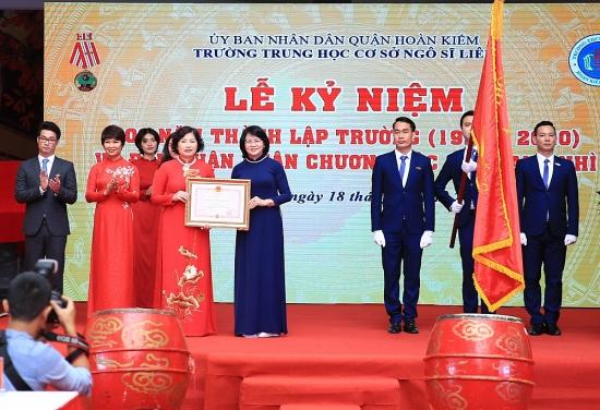 Trường Trung học cơ sở Ngô Sĩ Liên (quận Hoàn Kiếm) kỷ niệm 100 năm thành lập