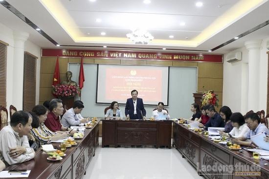Khảo sát hoạt động Công đoàn Cụm thi đua số 8 Liên đoàn Lao động Thành phố