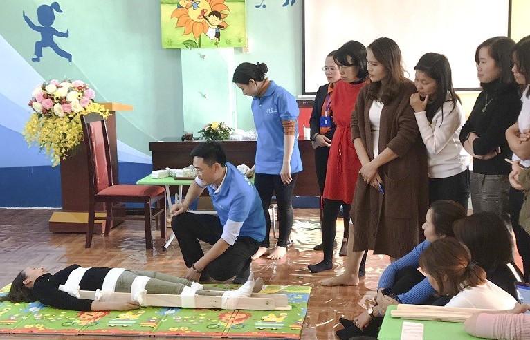 Hà Nội: Tập huấn phòng tránh tai nạn thương tích cấp học mầm non