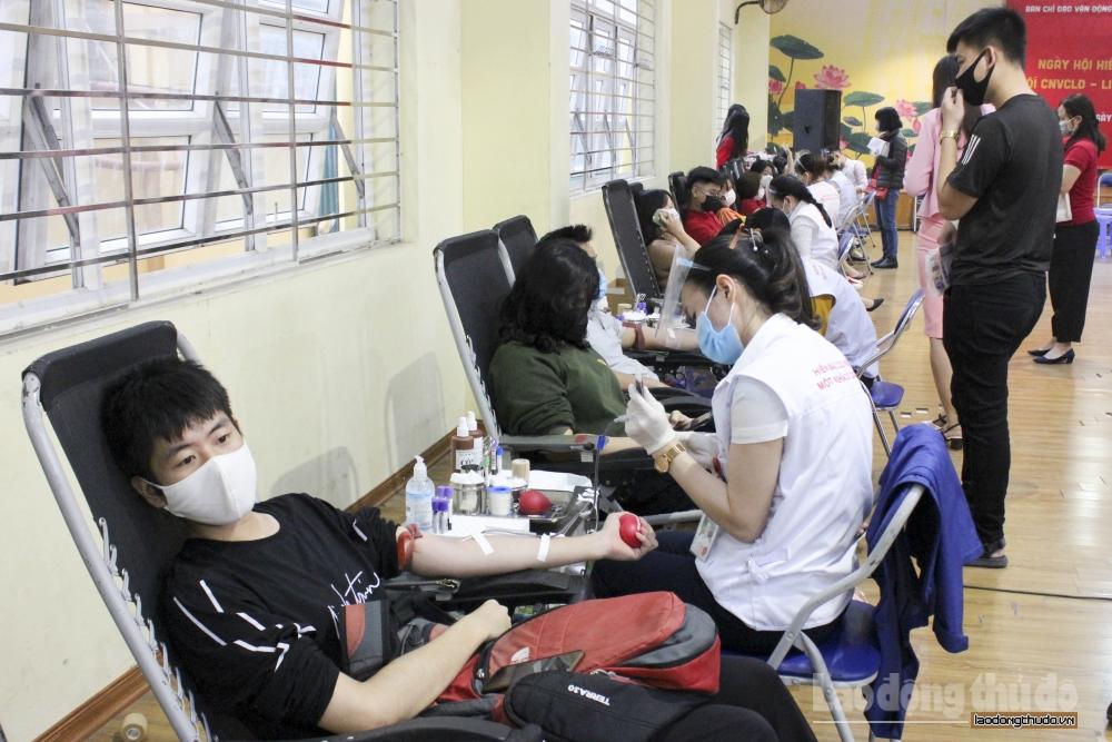 Quận Ba Đình: 500 công nhân viên chức lao động tham gia Ngày hội hiến máu tình nguyện