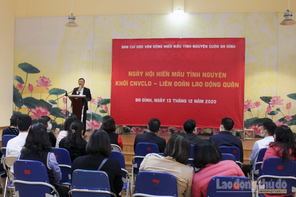 Sôi nổi Ngày hội hiến máu tình nguyện khối công nhân viên chức lao động quận Ba Đình năm 2020
