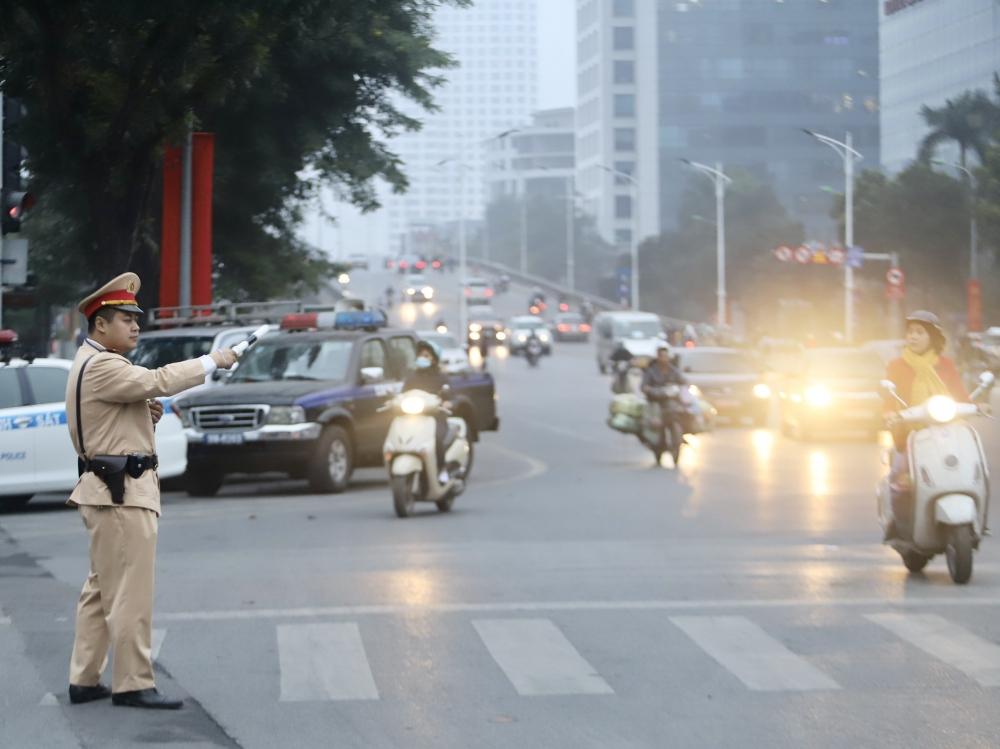 Ra quân cao điểm đảm bảo trật tự an toàn giao thông, trật tự đô thị dịp Tết 2021