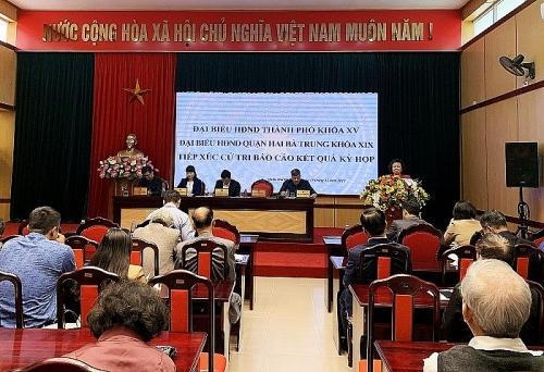 Cử tri quận Hai Bà Trưng quan tâm đến công tác cấp giấy chứng nhận quyền sử dụng đất