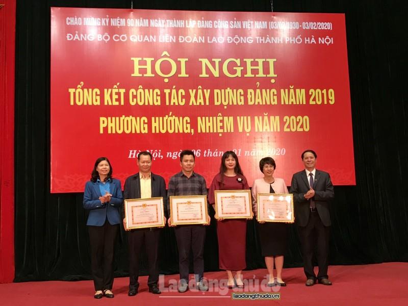 Đảng bộ cơ quan Liên đoàn Lao động thành phố Hà Nội tổng kết công tác Đảng năm 2019