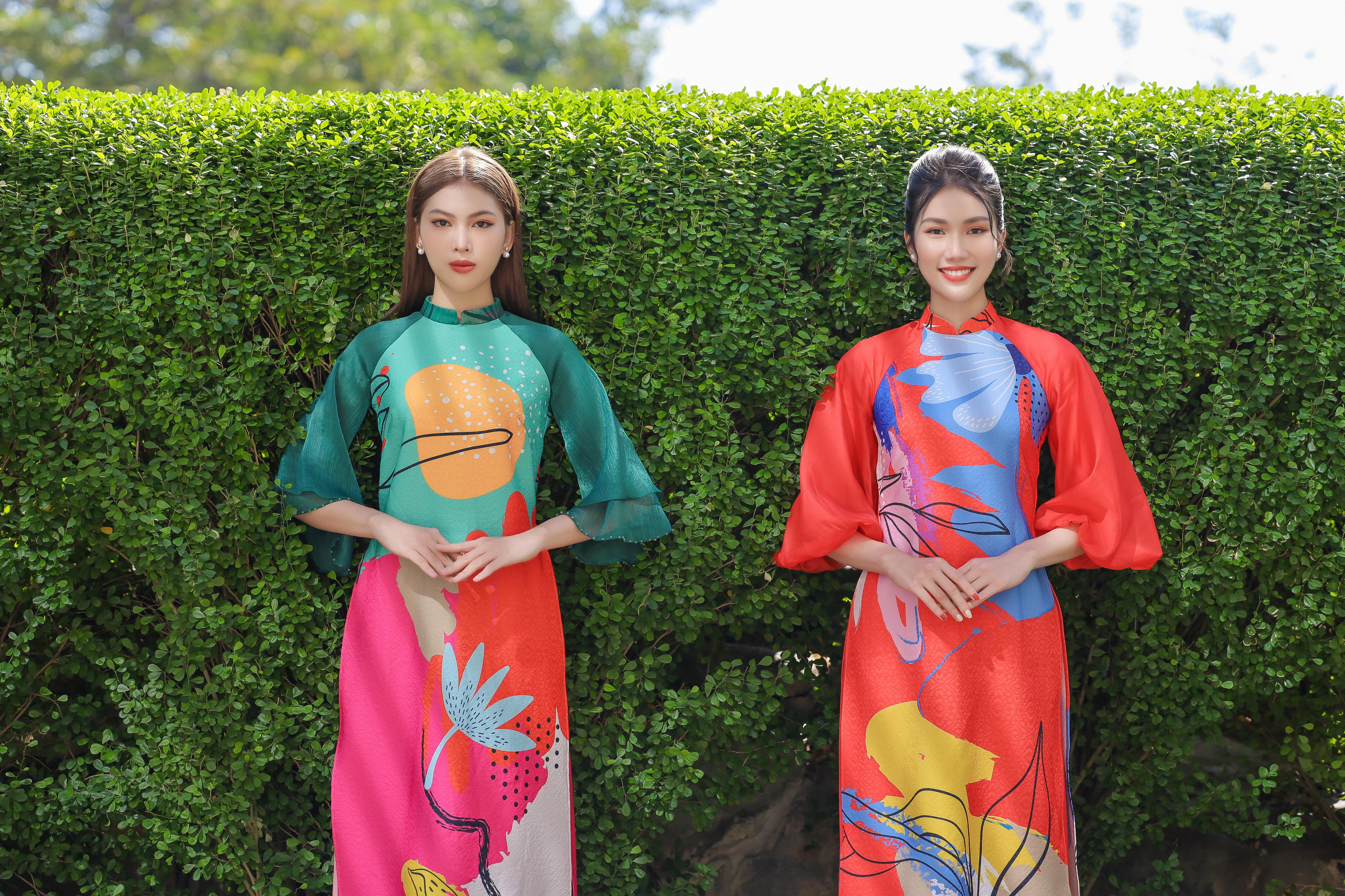 Á hậu Phương Anh, Ngọc Thảo gợi ý cách diện áo dài duyên dáng dịp Tết 2021