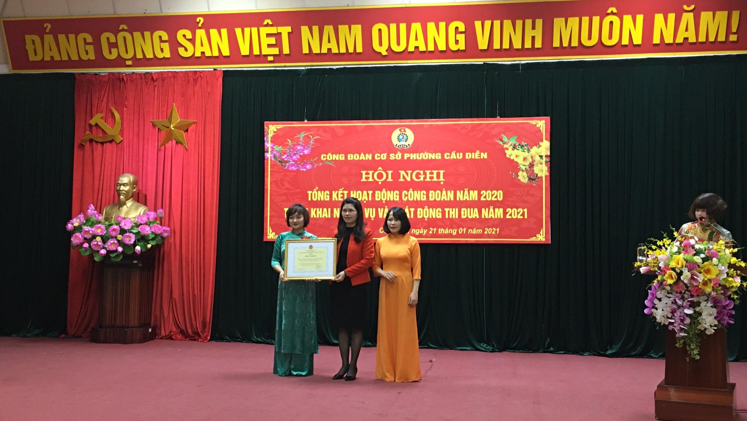 Phát động thi đua điểm năm 2021 tại công đoàn cơ sở phường Cầu Diễn