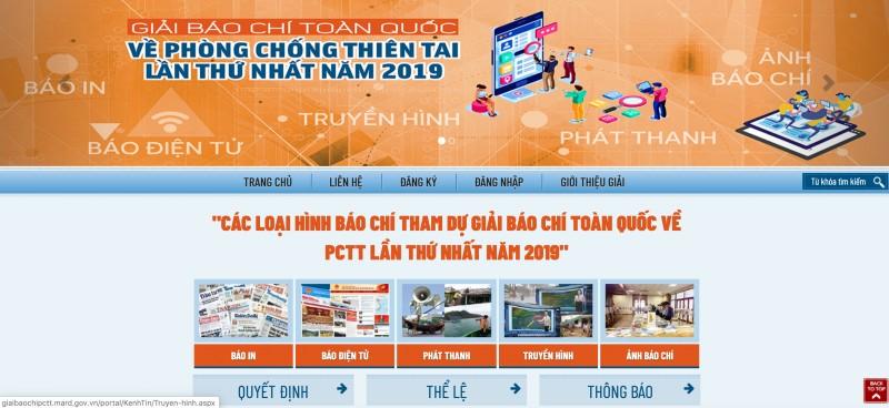 hap dan giai bao chi toan quoc ve phong chong thien tai 2019
