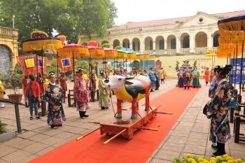 Lần đầu tái hiện Lễ tiến xuân ngưu tại Hoàng thành Thăng Long