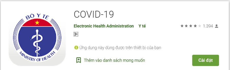 Điểm danh các ứng dụng phòng, chống dịch Covid-19 phổ biến nhất hiện nay