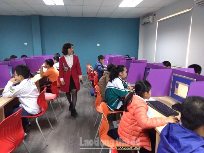 Gần 100 thí sinh tham gia Hội thi 'Tin học trẻ' quận Hai Bà Trưng 2019