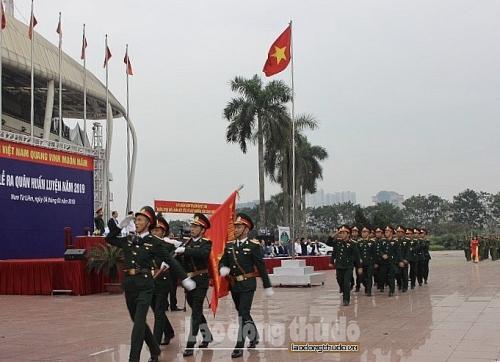 Sôi nổi lễ ra quân huấn luyện của quận Nam Từ Liêm 2019