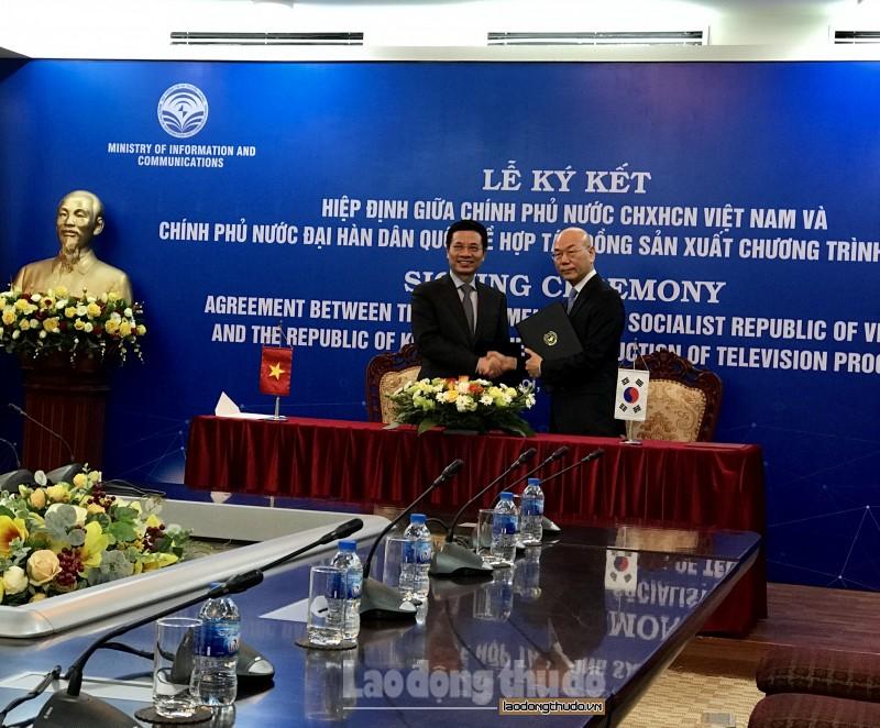 Việt Nam và Hàn Quốc ký kết hiệp định về sản xuất chương trình truyền hình