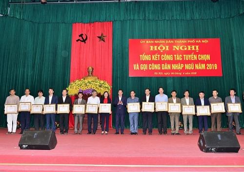 Hà Nội: Tổng kết công tác tuyển chọn và gọi công dân nhập ngũ năm 2019