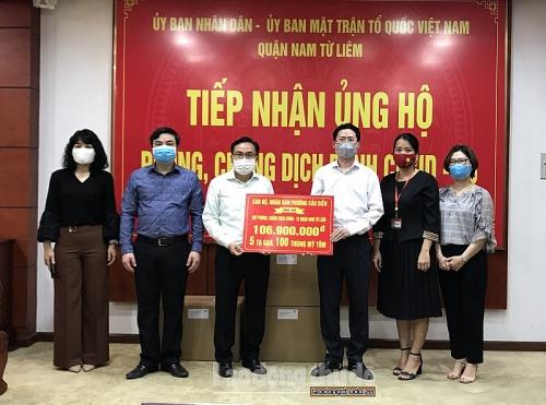 Quận Nam Từ Liêm: Tiếp nhận nhiều hiện vật ủng hộ công tác phòng chống dịch