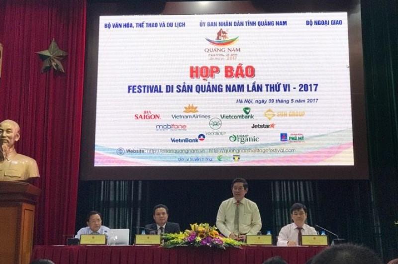 Nhiều sự kiện đặc sắc tại Festival Di sản Quảng Nam lần thứ VI 2017