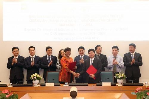 Thành phố Hà Nội tiếp tục ký kết quảng bá hình ảnh trên kênh CNN