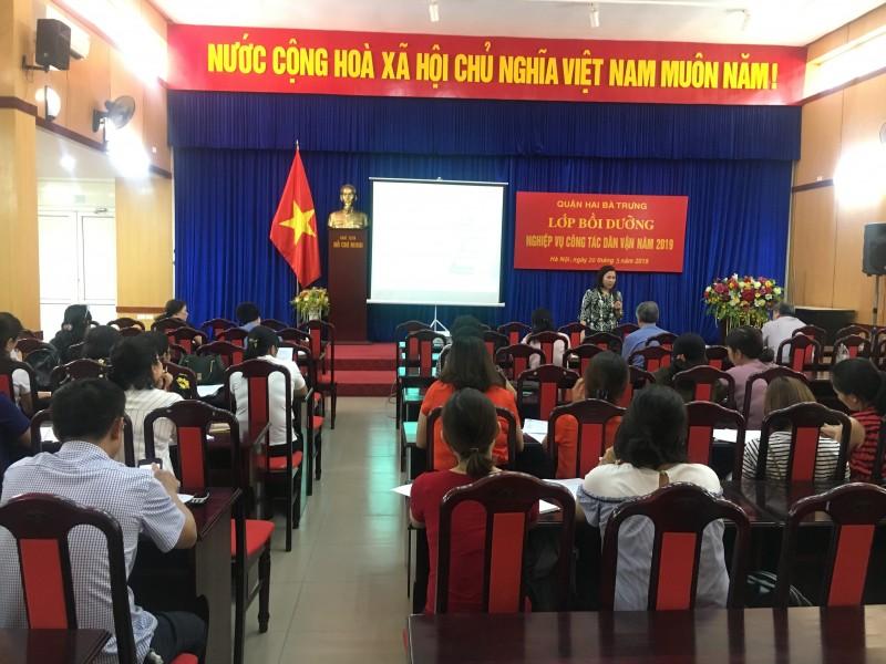 Quận Hai Bà Trưng tổ chức tập huấn Quy chế dân chủ ở cơ sở