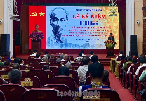 Quận uỷ Nam Từ Liêm long trọng kỷ niệm 130 năm ngày sinh Chủ tịch Hồ Chí Minh