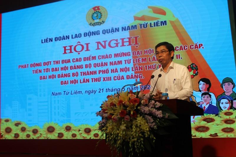 lien doan lao dong nam tu liem phat dong dot thi dua cao diem chao mung dai hoi dang cac cap