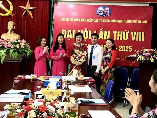 Đại hội Chi bộ cơ quan Liên hiệp các tổ chức hữu nghị thành phố Hà Nội lần thứ VIII, nhiệm kỳ 2020-2025