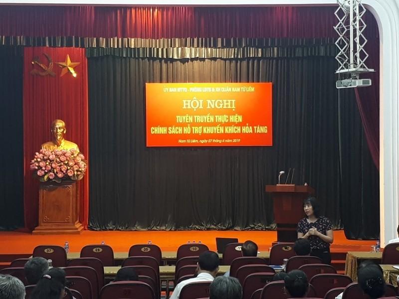 Quận Nam Từ Liêm: Hỗ trợ người dân chi phí hoả táng