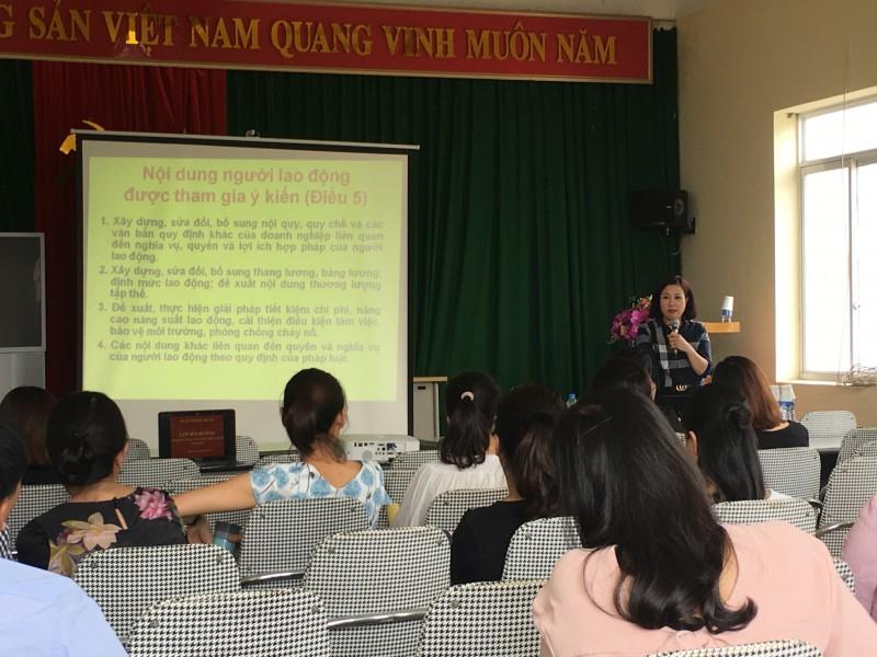 tap huan ve cong tac to chuc hoi nghi nguoi lao dong