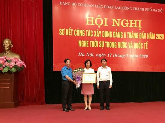 Đảng bộ cơ quan Liên đoàn Lao động thành phố Hà Nội sơ kết công tác Đảng 6 tháng đầu năm
