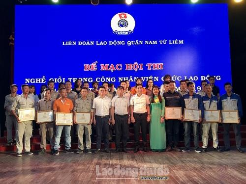 72 thí sinh tham dự Hội thi nghề giỏi trong CNVCLĐ quận Nam Từ Liêm năm 2019