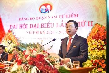 Ông Trần Đức Hoạt được tín nhiệm bầu Bí thư Quận uỷ Nam Từ Liêm khoá II