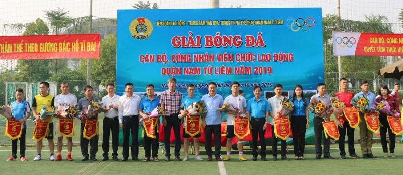 Khai mạc Giải bóng đá trong công nhân, viên chức, lao động quận Nam Từ Liêm